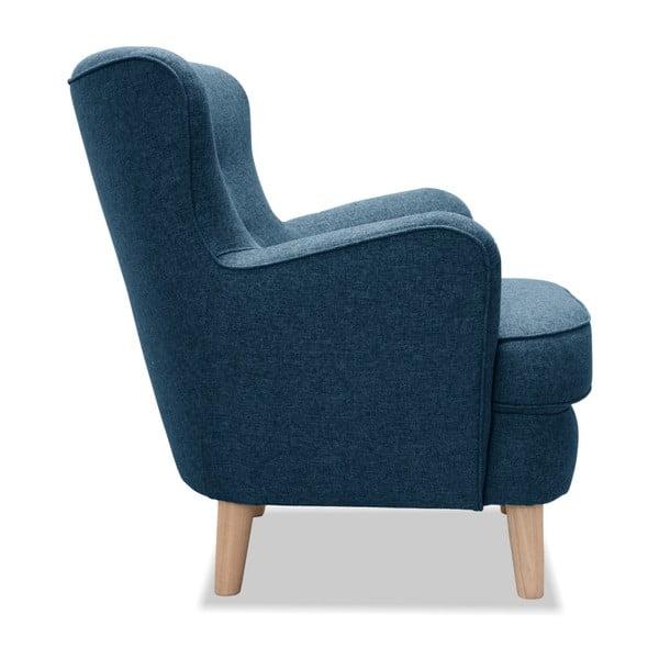 Niebieski fotel Vivonita Eden