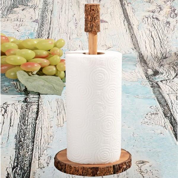 Drewniany stojak na ręczniki papierowe Acacia