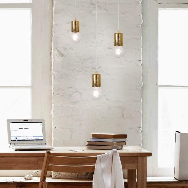 Lampa wisząca potrójna Bulb Attack, złota/biała/biała