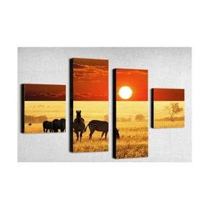 Czteroczęściowy obraz Africa, 50x100 cm