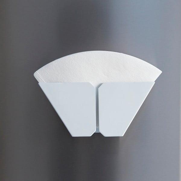 Biały magnetyczny uchwyt do kawowych filtrów Yamazaki Tosca