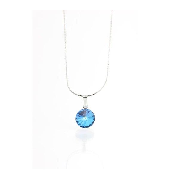 Niebieska Naszyjnik z kryształami Swarovskiego Yasmine Longie