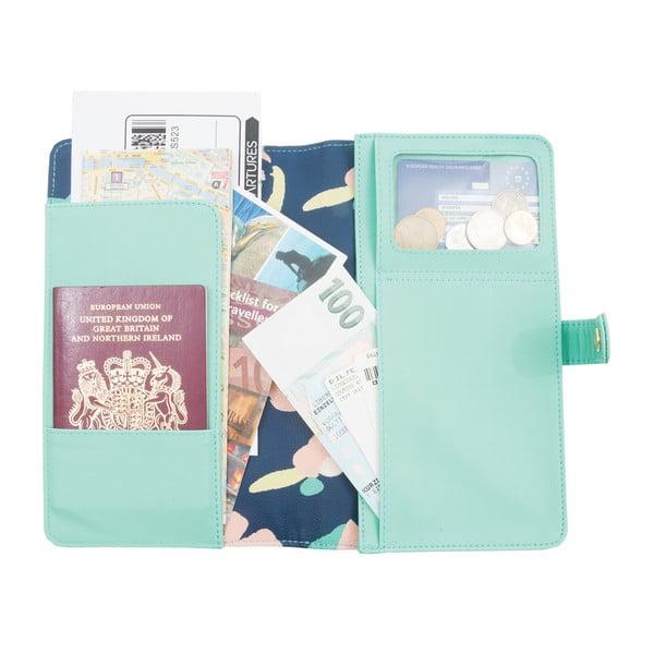 Turkusowy portfel podróżny Busy B New Fashion