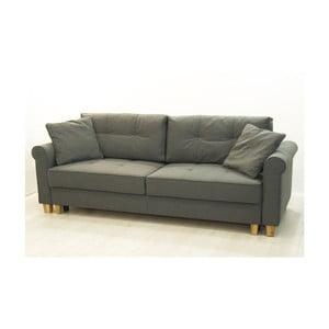 Szara trzyosobowa sofa rozkładana Sinkro Porto
