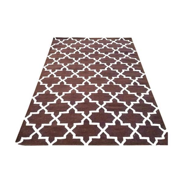 Ręcznie tkany dywan Kilim Design One Brown, 160x230 cm