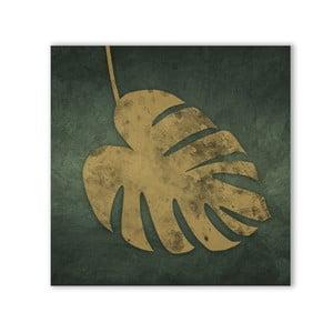 Obraz Styler Canvas Silver Uno Leaf, 65x65 cm