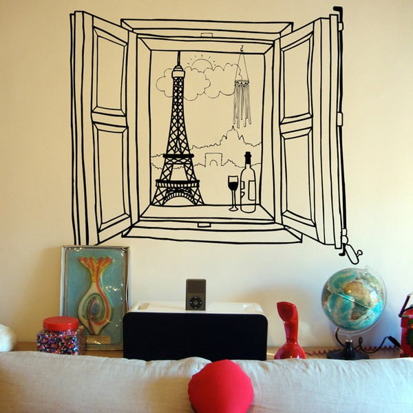Naklejka Paris Window, 110x131 cm