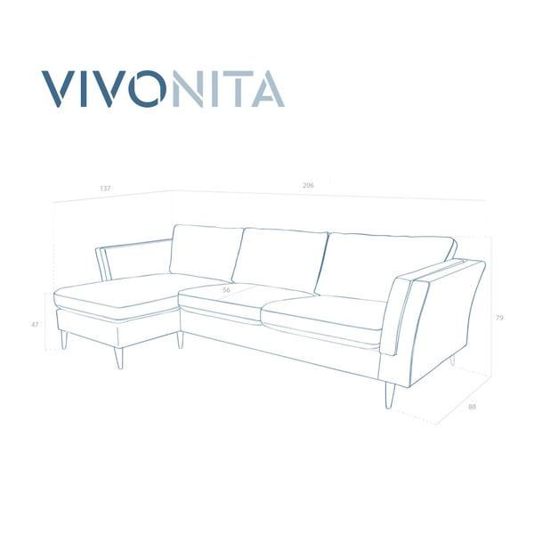 Beżowy narożnik prawostronny Vivonita Connor