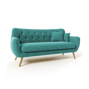 Sofa trzyosobowa Renne Orinoco, turkusowa