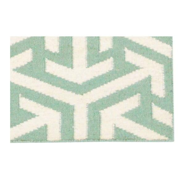 Ręcznie tkany dywan Kilim 307 no.5 Green, 60x180 cm