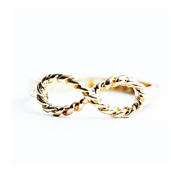 Pierścionek Golden Knurling