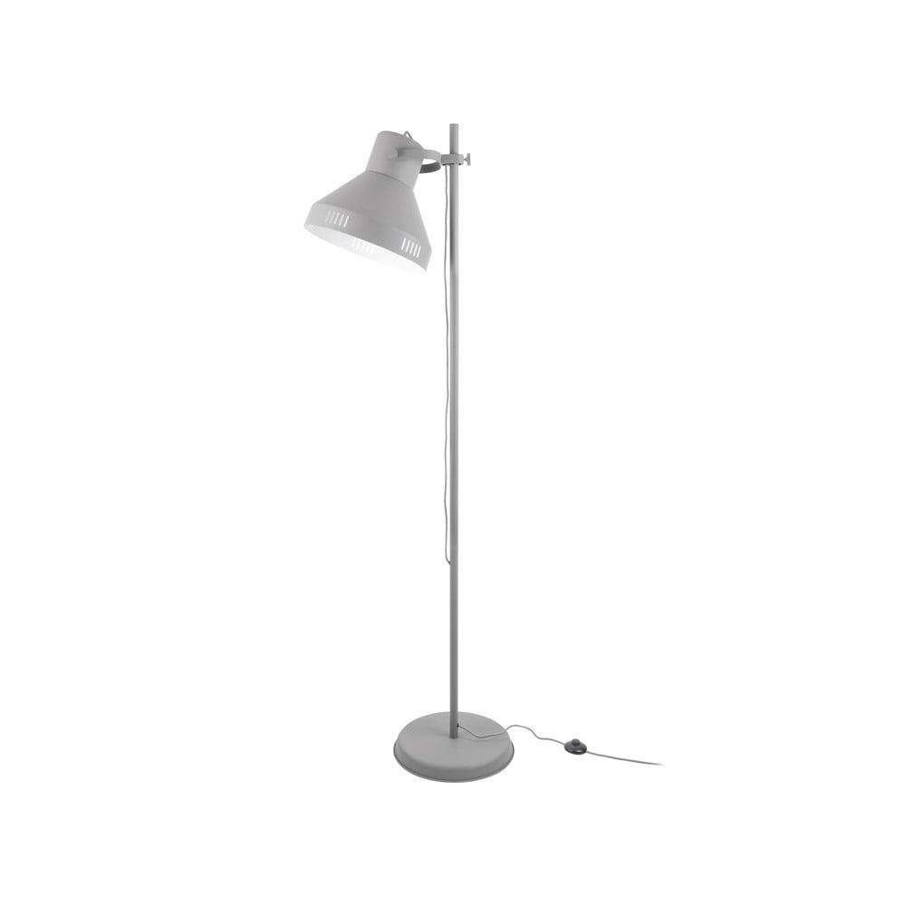Szara lampa stojąca Leitmotiv Tuned Iron,wys.180cm