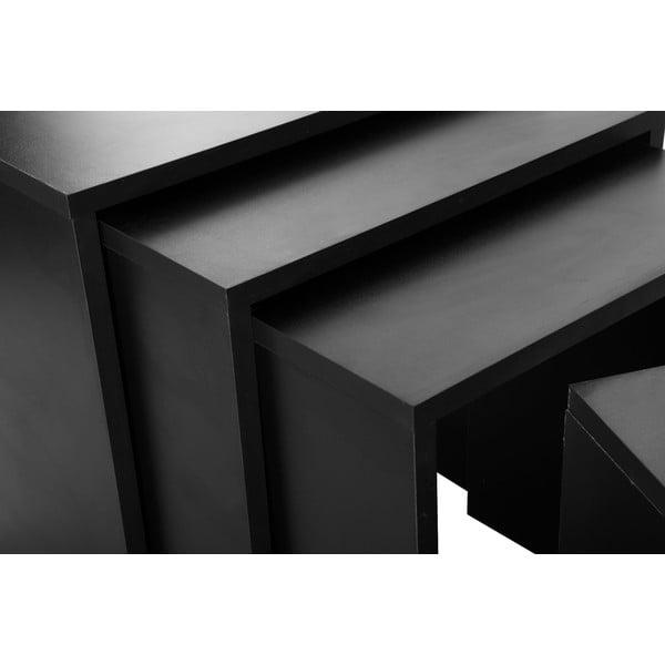 Zestaw 4 stolików Bonsai Black