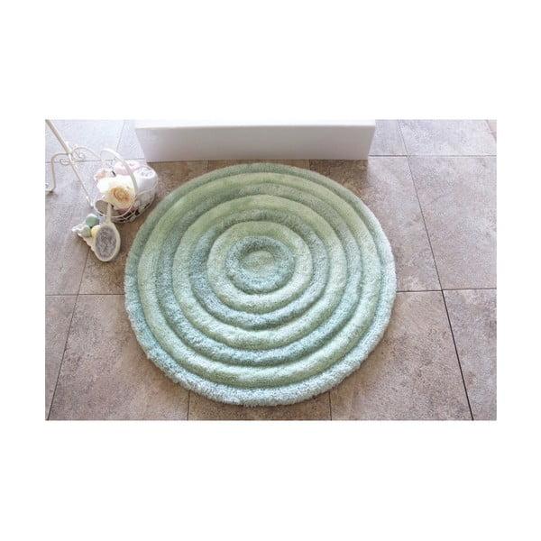 Dywanik łazienkowy Alessia Round Mint, Ø 90 cm