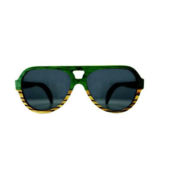 Okulary drewniane Andwe Green Bomb