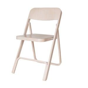 Białe drewniane krzesło składane Hawke&Thorn Stanton