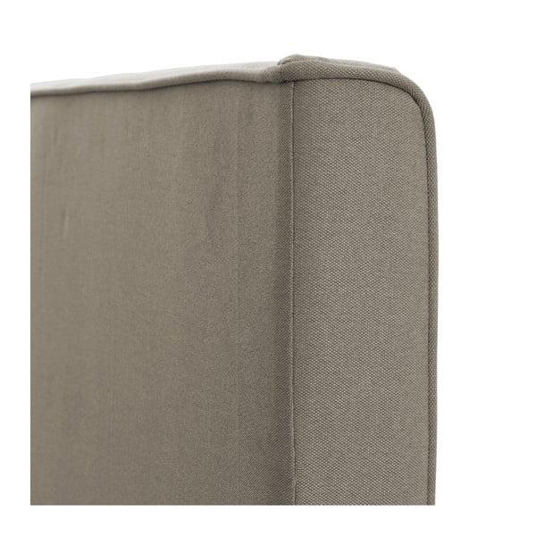 Jasnobrązowe łóżko z czarnymi nóżkami Vivonita Kent, 140x200 cm