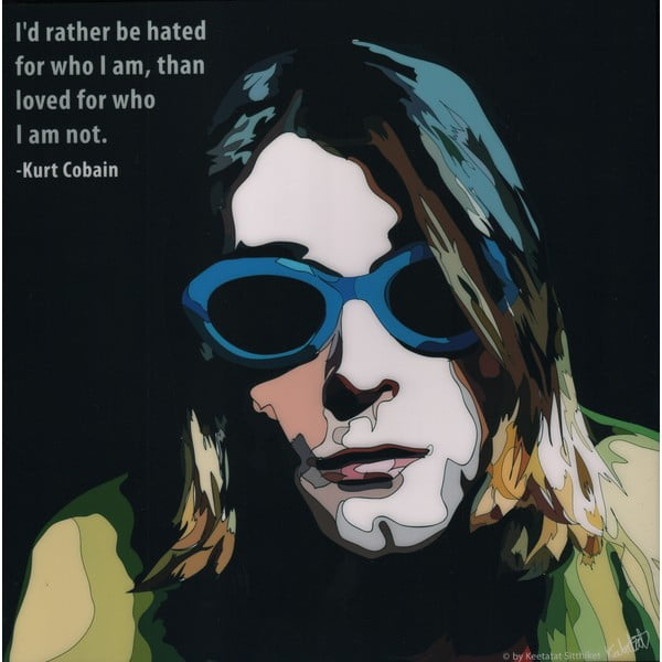 "Obraz ""Kurt Cobain - I rather be hated"""
