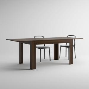 Stół rozkładany w kolorze orzecha MobiliFiver Easy, dł.140-220cm