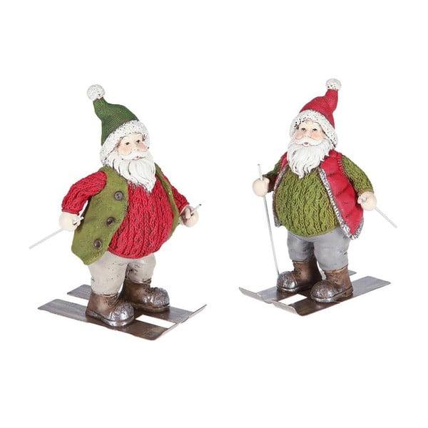 Zestaw 2 dekoracji Santa Ski
