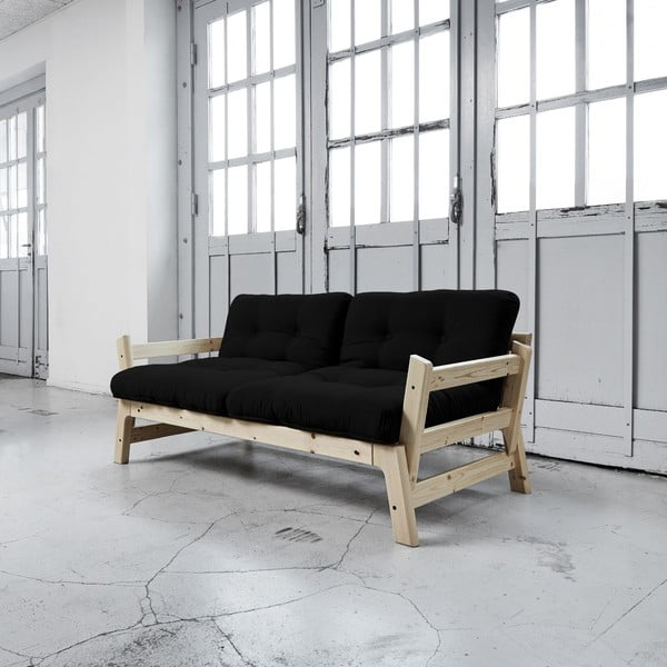 Sofa rozkładana Karup Step Natural/Black