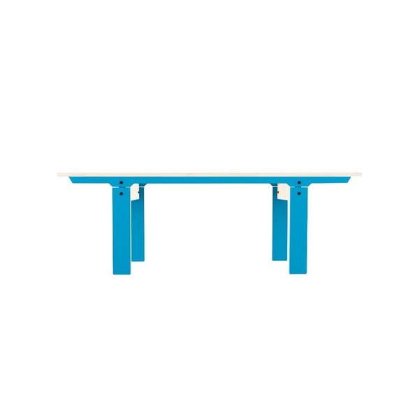 Niebieska ławka rform Slim 04, dł. 133 cm