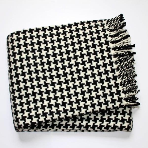 Czarno-biały koc Euromant Pearls, 140x180 cm