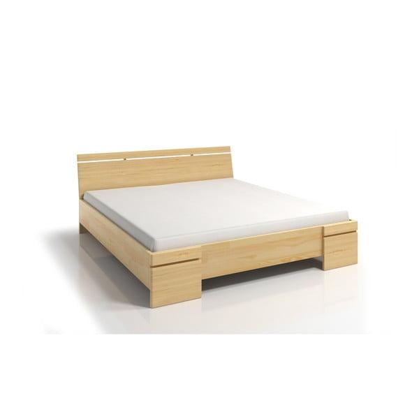 Łóżko 2-osobowe z drewna sosnowego ze schowkiem SKANDICA Sparta Maxi, 200x200 cm