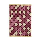 Czerwony dywan Duvar Red Beige, 80x150 cm