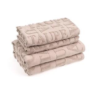 Komplet 4 ręczników bawełnianych Casa Di Bassi Ttypo