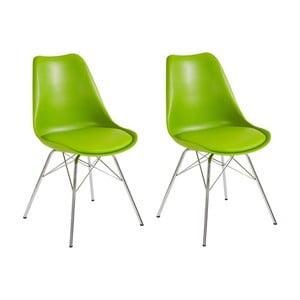 Zestaw 2 zielonych krzeseł Støraa Jenny