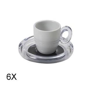 Komplet 6 filiżanek na espresso, szare