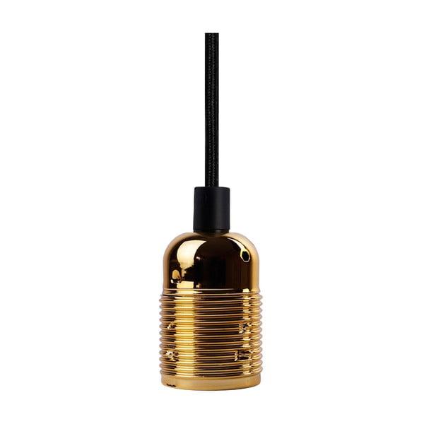 Czarny kabel wiszący z oprawą żarówki w kolorze złota Bulb Attack Uno