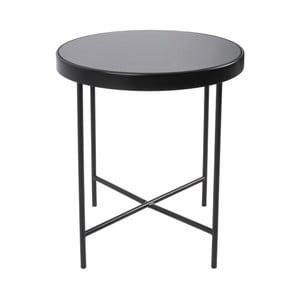 Czarny stolik Leitmotiv Smooth, 42,5x46 cm