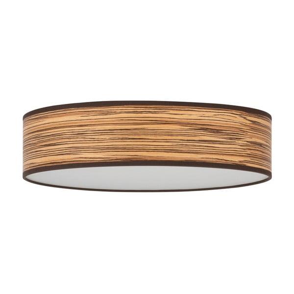 Jasnobrązowa lampa sufitowa z abażurem z naturalnego forniru Bulb Attack Ocho Clear, ⌀ 40 cm