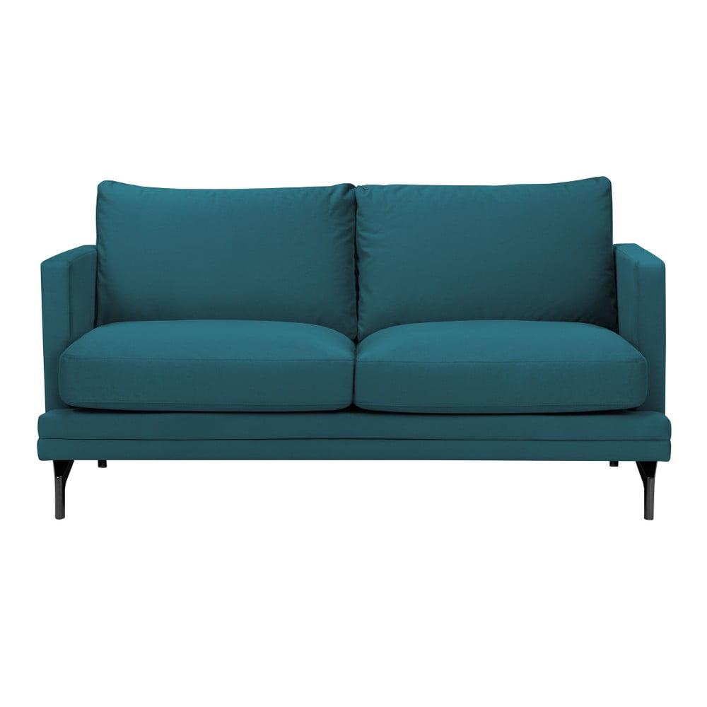 Turkusowa sofa 2-osobowa z czarną konstrukcją Windsor & Co Sofas Jupiter