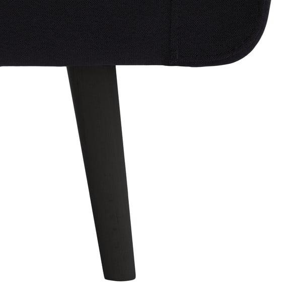 Narożnik lewostronny VIVONITA Sondero Dark Grey, czarne nogi