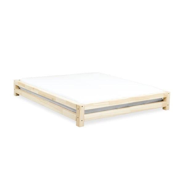 Łóżko 2-osobowe z drewna sosnowego Benlemi JAPA Natural, 160x190 cm