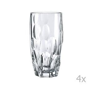Zestaw 4 wysokich szklanek ze szkła kryształowego Nachtmann Sphere, 385 ml