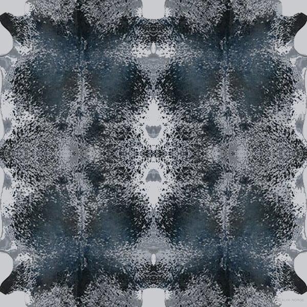 Wełniana chusta z dodatkiem kaszmiru Happy Cow Blue, 130 cm