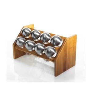 Pojemniczki na przyprawy w bambusowym stojaku Diana