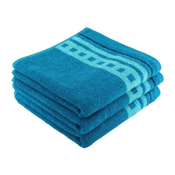 Zestaw 3 ręczników kąpielowych Clay Stream, 50x100 cm