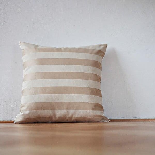 Poduszka z wypełnieniem Beige Stipes Lux, 50x50 cm
