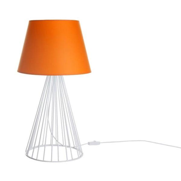 Lampa stołowa Wiry Orange/White