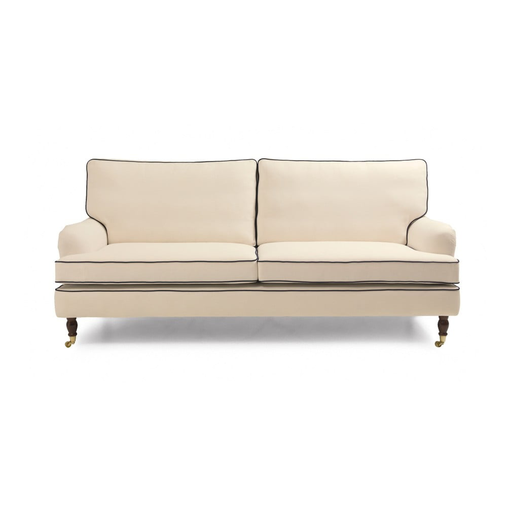 kremowa sofa trzyosobowa max winzer passion bonami. Black Bedroom Furniture Sets. Home Design Ideas