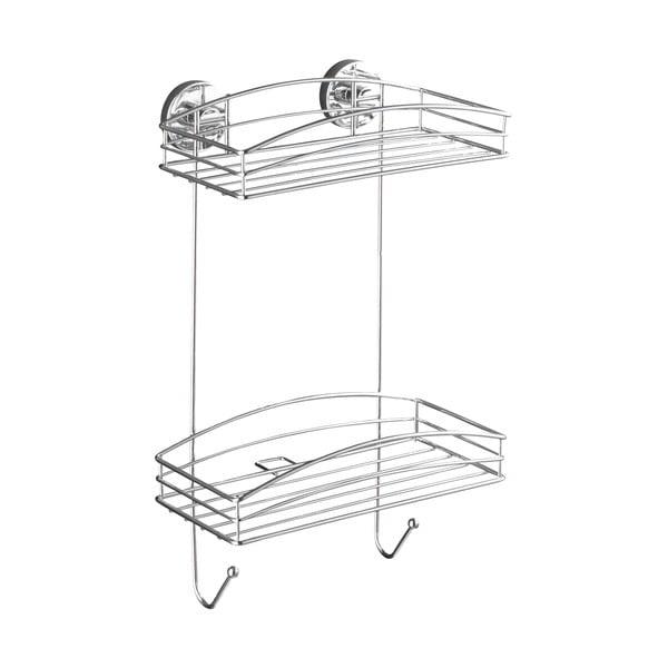 Półka dwupoziomowa z przyssawką Wenko Vacuum-Loc, do 33 kg