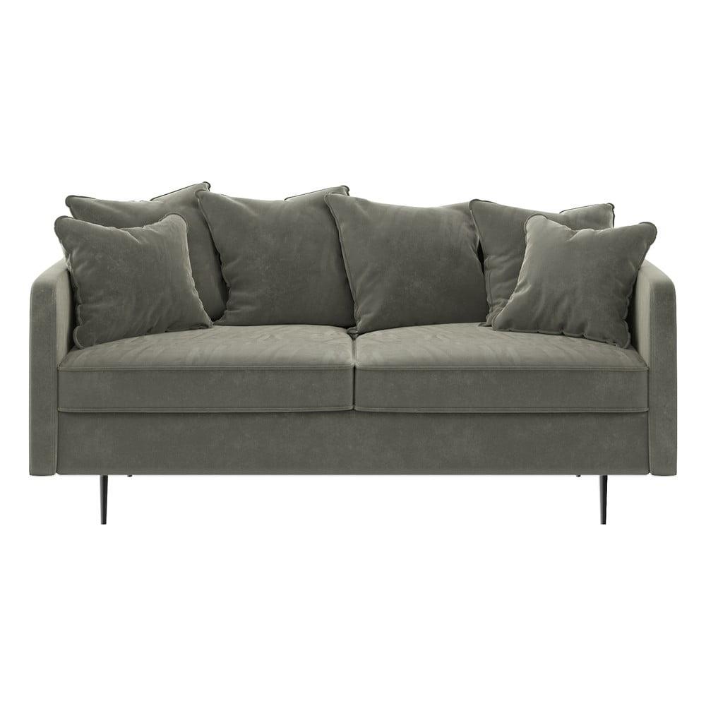 Beżowa aksamitna sofa Ghado Esme, 176 cm