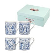 Zestaw 4 kubków Churchill China Penzance Blue Mug, 250 ml