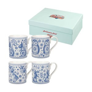 Zestaw 4 kubków Churchill China Blue Mug, 250 ml