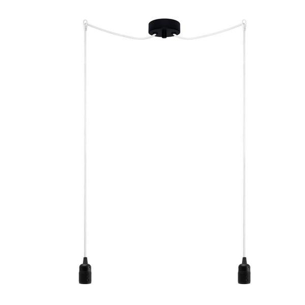 Lampa wisząca podwójna Uno, czarny/biały/czarny